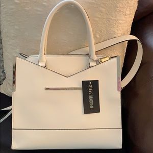 New Steve Madden White purse with coin bag